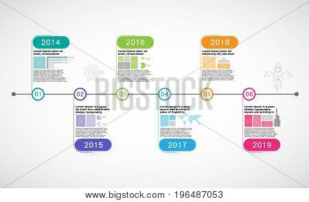 Milestone Company,  Infographic Vector, timeline, business , roadmap