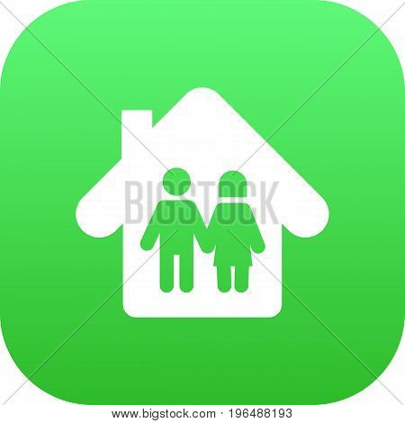 Isolated Parents Icon Symbol On Clean Background. Vector Family In Home Element In Trendy Style.