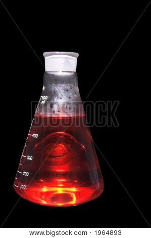 A tempered glass beaker used in a research laboratory. poster