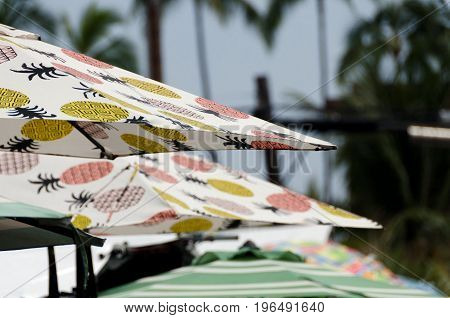 Umbrellas At Kona Farmer Market