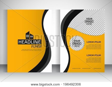 Template for brochure or flyer. Editable site for business education presentation website magazine cover.