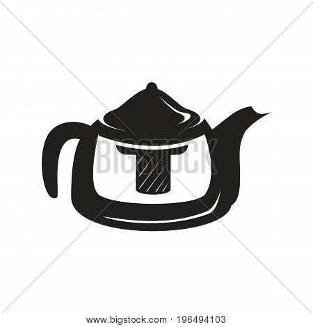 kettle with infuser isolated on white background.