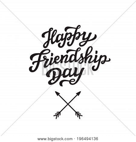 Happy Friendship Day Lettering Text