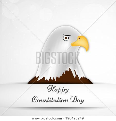 illustration Eagle with Happy Constitution Day text on the occasion of USA Constitution Day