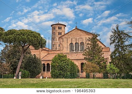 Ravenna, Italy: Basilica of Sant'Apollinare in Classe, ancient italian cathedral and important monument of byzantine art