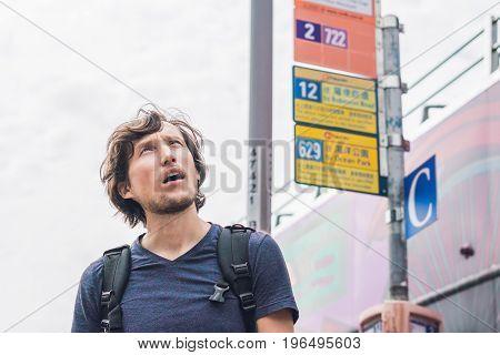 A Man Lost In Hong Kong. Buses In Hong Kong