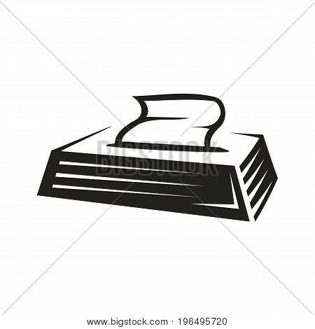opened tissues box isolated on white background.