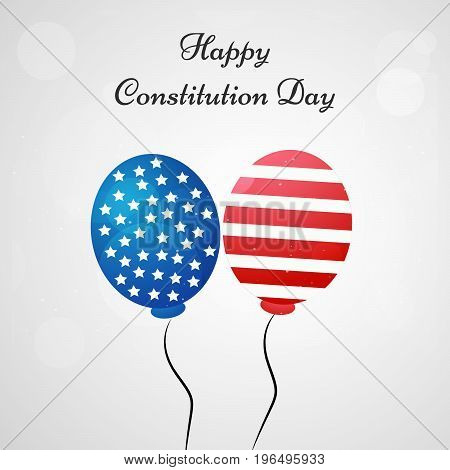 illustration of balloons with Happy Constitution Day text on the occasion of USA Constitution Day