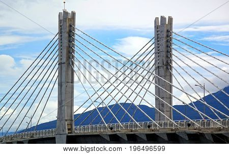 Cable Stayed Bridge With Two Pylons