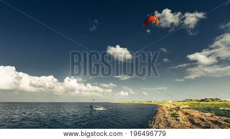 Kitesurfing Lessons Summer Holiday Vacation Surfing Concept