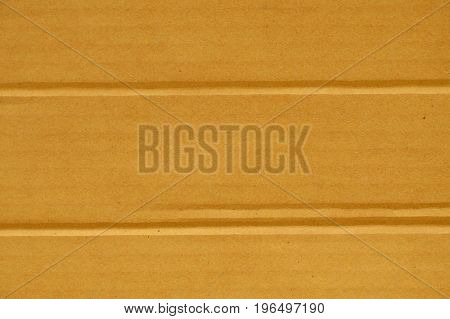 brown hard paper box crease line background and texture