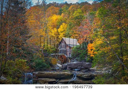 Autumn at Babcock Mill in West Virginia