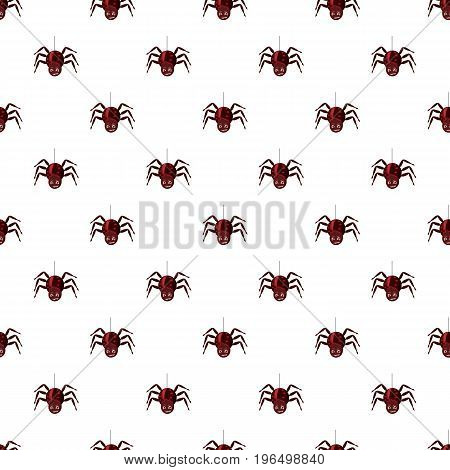 Spider pattern seamless repeat in cartoon style vector illustration