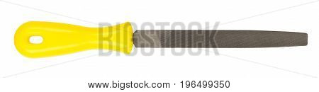 File with a plastic handle isolated on white