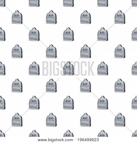 Grave pattern seamless repeat in cartoon style vector illustration
