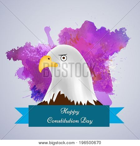 illustration of eagle with Happy Constitution Day text on the occasion of USA Constitution Day