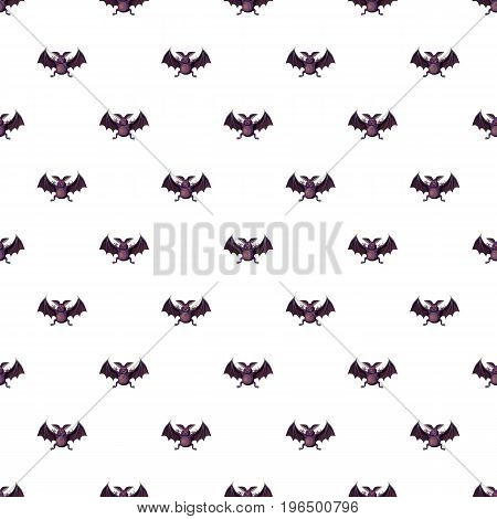 Bat pattern seamless repeat in cartoon style vector illustration