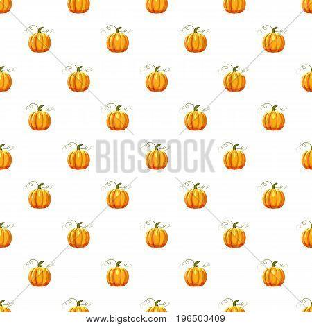 Pumpkin pattern seamless repeat in cartoon style vector illustration