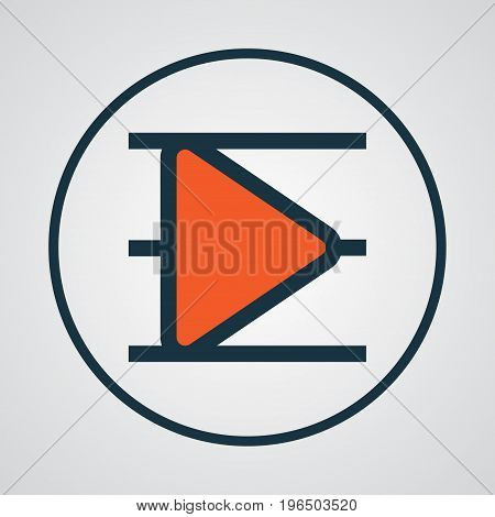 Playlist Colorful Outline Symbol. Premium Quality Isolated Song List Element In Trendy Style.