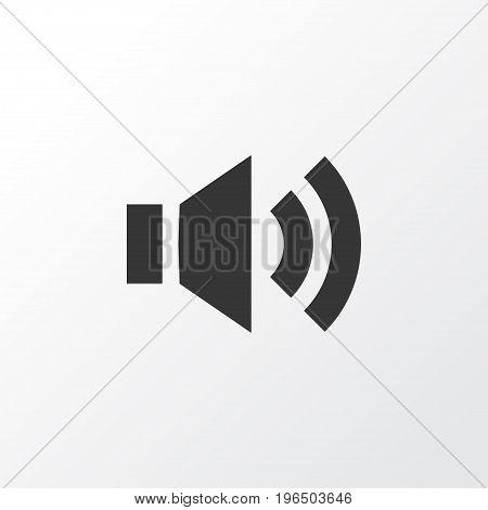 Premium Quality Isolated Audio Element In Trendy Style. Sound Icon Symbol.