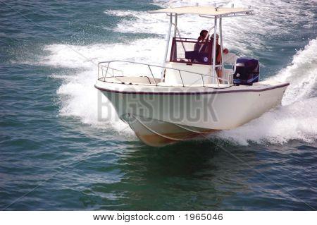 Fishing Boat On Inland Waterway