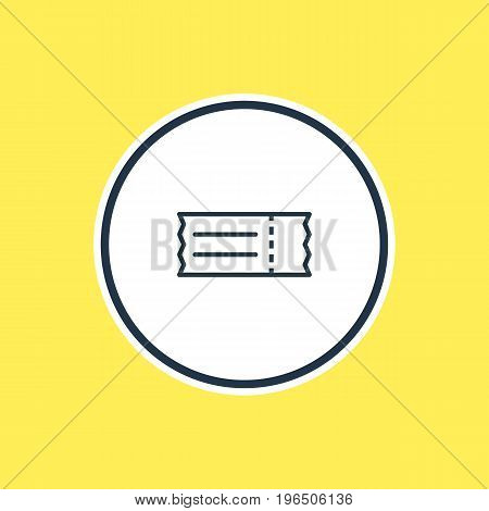 Beautiful Cinema Element Also Can Be Used As Coupon Element. Vector Illustration Of Ticket Outline.