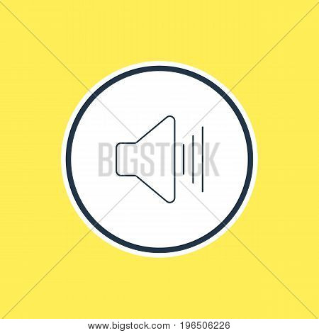 Beautiful Melody Element Also Can Be Used As Volume Up Element. Vector Illustration Of Upward Sound Outline.