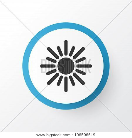 Premium Quality Isolated Midday Element In Trendy Style. Dhuhr Icon Symbol.