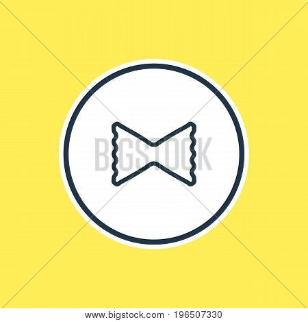 Beautiful Meal Element Also Can Be Used As Macaroni Element. Vector Illustration Of Pasta Outline.
