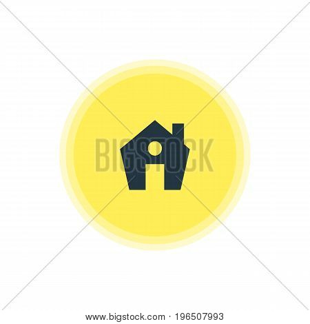 Vector Illustration Of House Icon. Beautiful Map Element Also Can Be Used As Home Element.