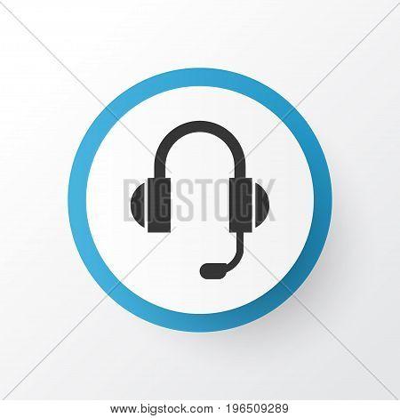 Premium Quality Isolated Earphone Element In Trendy Style. Headphone Icon Symbol.