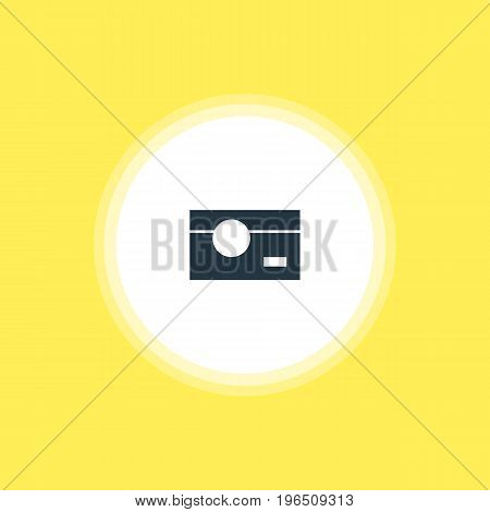 Vector Illustration Of Camera Icon. Beautiful Web Element Also Can Be Used As Capture Element.