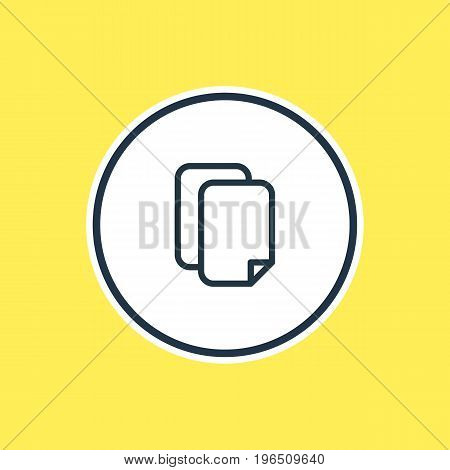 Vector Illustration Of Copy Outline. Beautiful Storage Element Also Can Be Used As Documents Element.