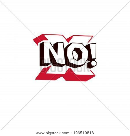 Cross sign wrong concept. Vector rejection symbol disapproved isolated on white.