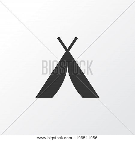 Tent Icon Symbol. Premium Quality Isolated Booth Element In Trendy Style.