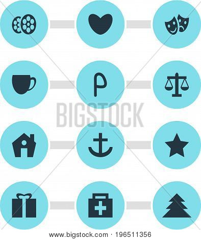 Editable Pack Of Heart, Jungle, Car Park And Other Elements. Vector Illustration Of 12 Check-In Icons.