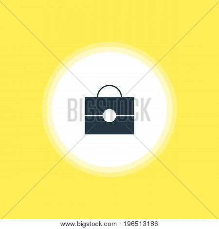 Vector Illustration Of Briefcase Icon. Beautiful Online Element Also Can Be Used As Portfolio Element.
