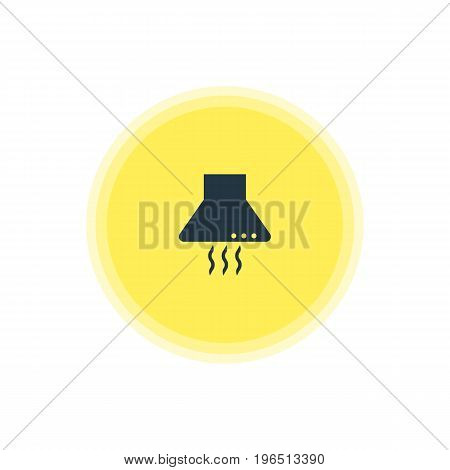 Vector Illustration Of Kitchen Hood Icon. Beautiful Kitchenware Element Also Can Be Used As Extractor Appliance Element.