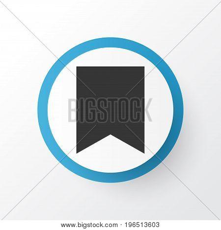 Bookmark Icon Symbol. Premium Quality Isolated Flag Element In Trendy Style.