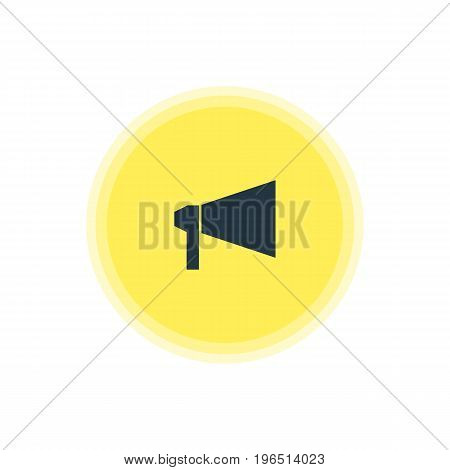 Vector Illustration Of Announce Icon. Beautiful Online Element Also Can Be Used As Bullhorn Element.