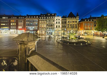 Aachen Market Square At Night, Editorial