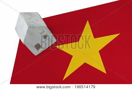 Small House On A Flag - Vietnam