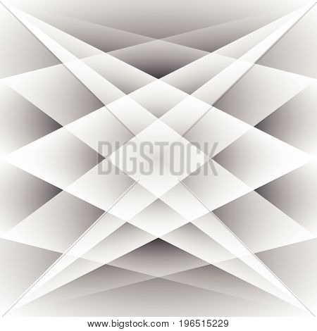Abstract white and grey color of geometric shape background with copy space