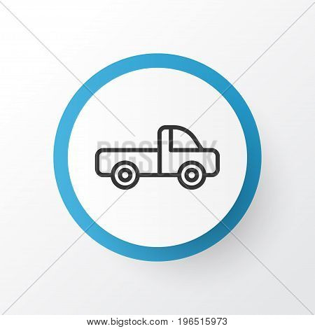Premium Quality Isolated Vehicle Car Element In Trendy Style. Pickup Icon Symbol.