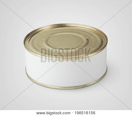 Small Tin Can On Gray
