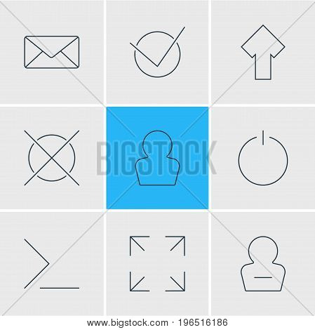 Editable Pack Of Avatar, Startup, Yes And Other Elements. Vector Illustration Of 9 User Icons.