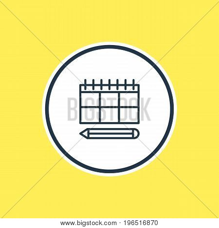 Vector Illustration Of Planning Outline. Beautiful Advertising Element Also Can Be Used As Schedule Element.