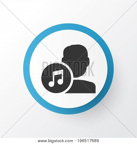 Artists Icon Symbol. Premium Quality Isolated Composer Element In Trendy Style.