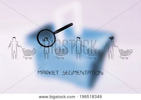 Magnifying Glass Analysing The Customer Buying More Products Than Others