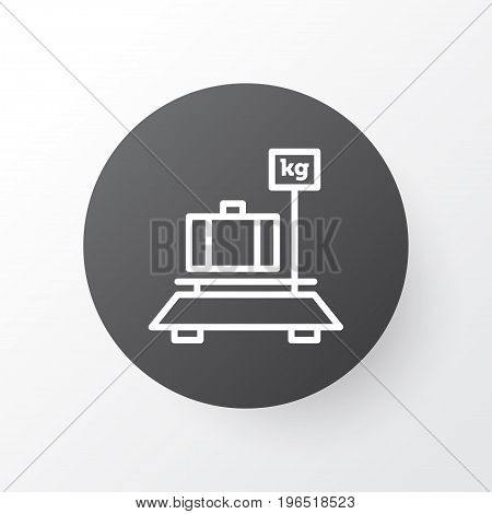 Luggage Weight Icon Symbol. Premium Quality Isolated Baggage Element In Trendy Style.